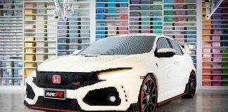 Lyst på en legoutfordring? Hva med å bygge en Honda Civic Type R i full størrelse? (Alle foto: Honda)