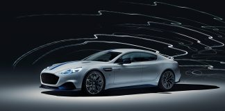Her er Aston Martins føreste elbil, Rapide E. (Alle foto: AM)