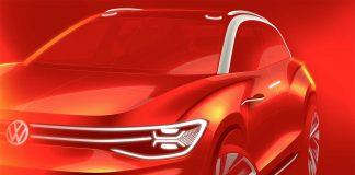 Bak dette røde filteret skjuler ID. Roomzz seg, Volkswagens sjette ID.-modell. (Alle foto: VW)