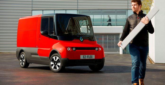Renault viser fram en bil som minner mye om en viss postmann og hans røde bil. (Alle foto: Renault)