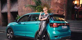 Et halvt år etter at den ble vist fram for første gang er Volkswagen T-Cross markedslansert. Her sammen med Cara Delevingne. (Alle foto: VW)