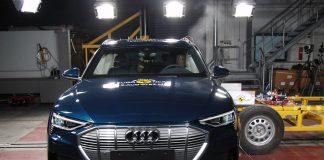 Den nye elbilen Audi e-tron er også en sikker bil. (Foto: Euro NCAP)