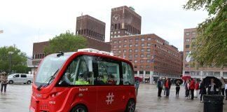 Nå er det busser midt i Oslo sentrum som kjører av seg selv. (Alle foto: Ruter)