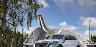 Mercedes EQC starter på litt over 600.000 kroner, og de første bilene blir levert sent i 2019. (Alle foto: Mercedes)