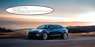 Ja, det finnes åpenbart en Model 3 med en rekkevidde på 150 kilometer. (Foto: Tesla)