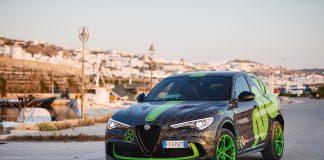 Alfa Romeo hyller Gumball-løpet med denne versjonen av Stelvio Quadrifoglio. (Alle foto: Alfa)