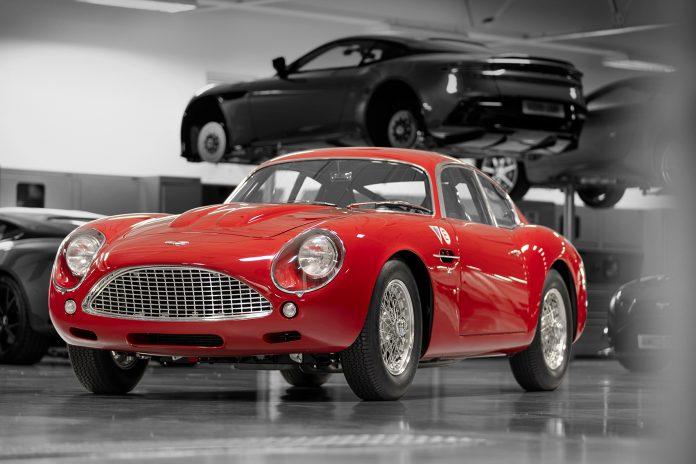 Dette er faktisk den aller nyeste bilen Aston Martin har presentert, en DB4 som ble introdusert i 1958. (Alle foto: AM)
