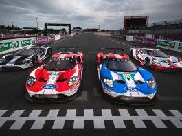 Fords fabrikksteam kjører sitt siste Le Mans, 50 år siden en Ford GT gikk til topps i det legendariske løpet. (Begge foto: Ford)