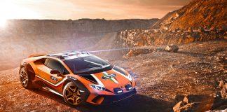 Lamborghini har nå bygd om en Huracán til en aldri så liten rallybil. (Alle foto: Lamborghini)