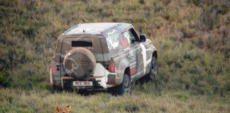 En ny modell har aldri blitt fotografert som denne nye Land Rover Defender. (Alle foto: Land Rover)