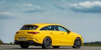 Mercedes lanserer nå en AMG-utgave kalt CLA 35 Shooting Brake. (Alle foto: Daimler)