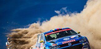 Ole Christian Veiby fra Kongsvinger var på vei mot en klasseseier i Rally Portugal da bilen tok fyr. (Begge foto: Even Management)