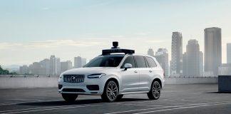 Volvo viser nå fram den første produksjonsklare bilen som også har Ubers selvkjørende teknologi. (Begge foto: Volvo)