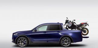 Noen studenter hos BMW står bak denne ganske så unike modellen, en X7 pickup. (Alle foto: BMW)