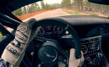 Bentley satte ny rekord opp Pikes Peak med en Continental GT. Her kan du oppleve rekorden sett fra førerens perspektiv. (Begge foto: Bentley)