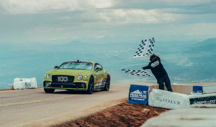 Bentley har hentet sin andre Pikes Peak-rekord på to år. (Foto: Bentley)