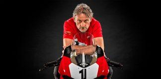Den mangedobbelte verdensmesteren Carl Forgarty skal avduke en spesialversjon av Panigale V4. (Begge foto: Ducati)