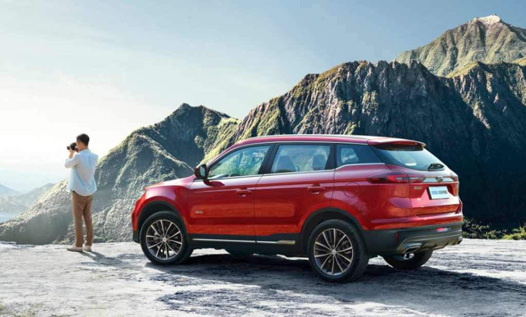 Det ble solgt 109.714 Geely Boyue i Kina i løpet av det første halvåret, og den er Kinas 17. mest solgte modell. Her en utgave kalt Boyue Pro. (Foto: Geely Auto)