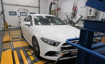 En dieselversjon av Mercedes C220 scoret like godt som elbilene «ren luft»-kategorien i Green CNAP-test. (Begge foto: Green NCAP)