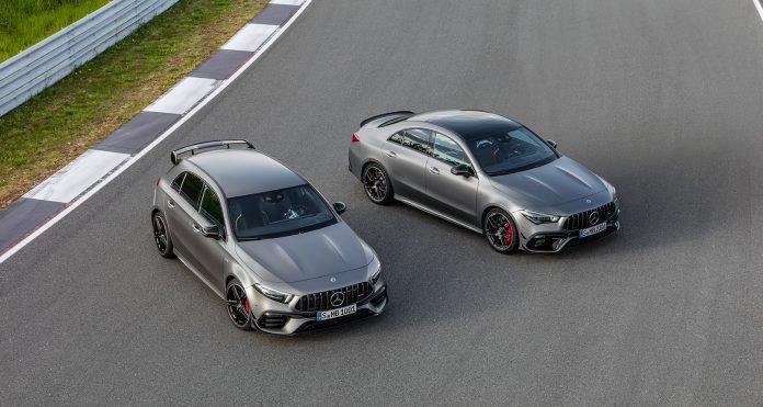 Mercedes byr nå på kompakte AMG-modeller med en egen drift-modus. (Alle foto: Mercedes)