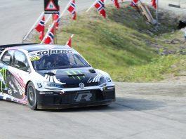 Petter Solberg slettet sønnen Olivers bakkerekord under et bakkeløp i Målselv. (Foto: VW)