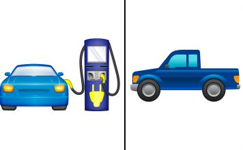Savner du en emoji for elbiler? Eller kanskje en for pickuper? (Foto: Ford/ Electrify America)