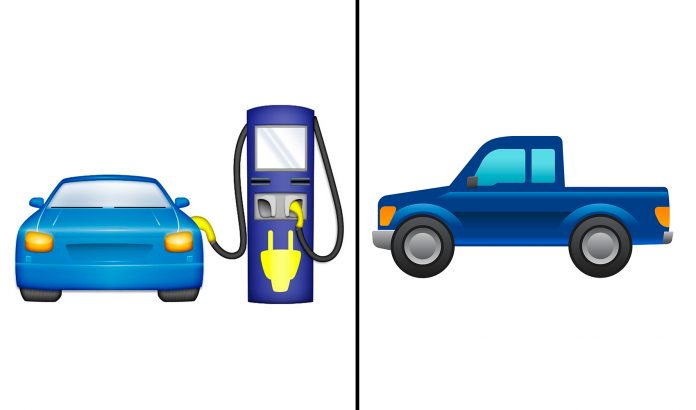 Savner du en emoji for elbiler? Eller kanskje en for pickuper? (Foto: Ford/ Electrify America)