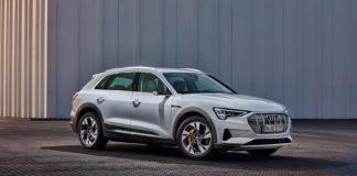 Audi kommer med et rimeligere alternativ av elbilen e-tron 55, nemlig e-tron 50. (Alle foto: Audi)