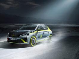 Opel blir den første bilprodusenten som tilbyr en elektrisk rallybil. (Alle foto: Opel)