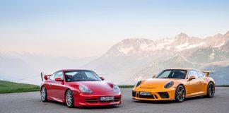 Porsche 911 GT3 runder 20 år. (Alle foto: Porsche)