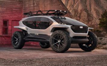 Audi viser fram en eksepsjonell firehjulstrekker, AI:Trail. (Alle foto: Audi)