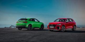 Audi lanserer nå en RS-versjon av den nye Q3 Sportback. Også Q3 kommer som en ny RS-versjon (den røde på bildet). (Alle foto: Audi)