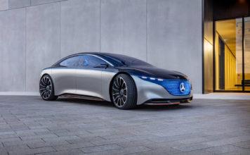 Mercedes viser fram et konsept av EQ-serien fra øverste hylle, nemlig Vision EQS. (Alle foto: Mercedes)