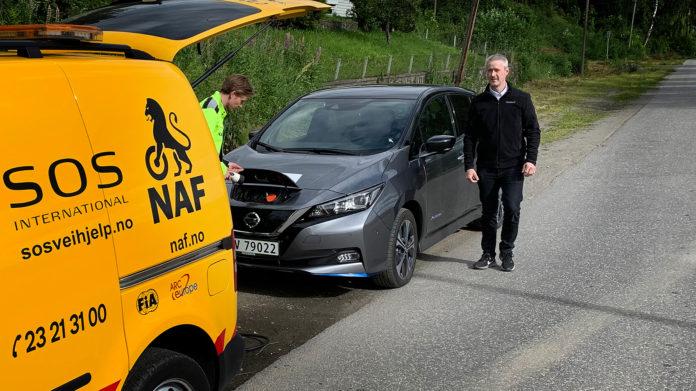 NAF har avdekket feil med ladingen til Nissan Leaf 62 kWh. (Begge foto: NAF)