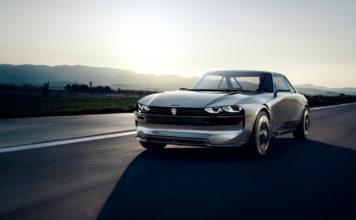 Peugeot e-Legend er en vakker elektrisk retromodell, og jaggu kan den ikke intervjue også. (Alle foto: Peugeot)