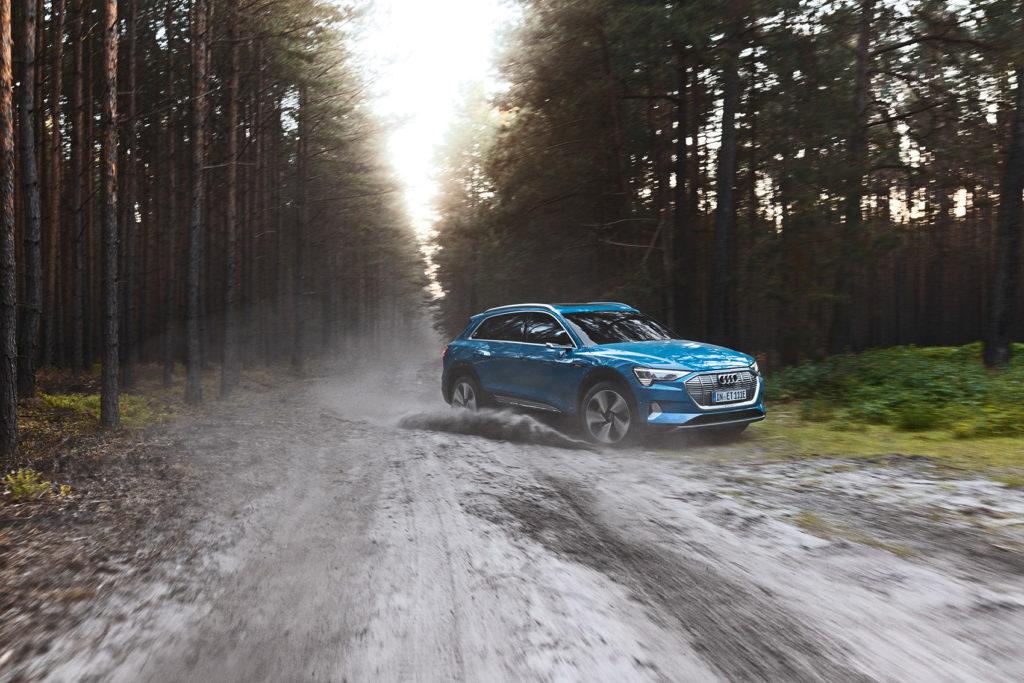 Audi har en av flere elbiler som er nominert, nemlig SUV-modellen e-tron. (Foto: Audi)