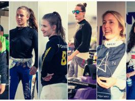 Norske Ayla Ågren var blant de seks nye førerne som nå er klare for W-serien. 26-åringen er nummer to fra høyre. (Foto: W-serien)