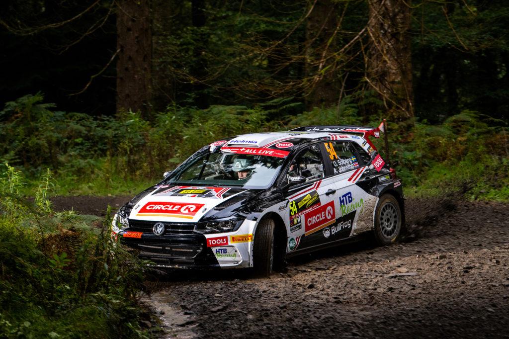 Oliver Solberg fikk dessverre Rally Wales ødelagt av tekniske problemer, men var lynrask da alt fungerte.