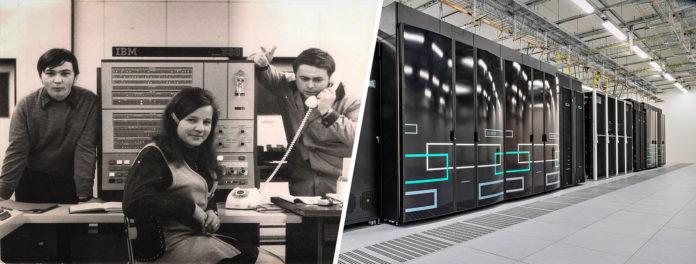 Datamaskinen til venstre er den samme typen som sendte menneske til månen, og er så svak at smarttelefonene er mange ganger raskere. Den til høyre derimot… (Alle foto: Skoda)