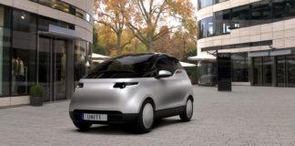 Her er et nytt svensk merke, Uniti. Og den lille elbilen har tre seter! (Alle foto: Uniti)