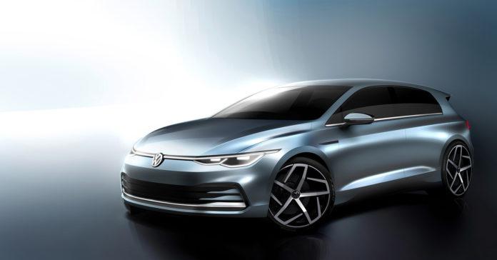 Slik er linjene til den 8. generasjonen av Volkswagen Golf. (Alle illustrasjoner: VW)