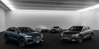 Audi skal bygge elbiler på fire plattformer. (Alle foto: Audi)