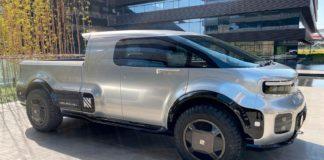 Denne heter Neuron EV T/One, og er som Tesla Cybertruck en elektrisk pickup. (Alle foto: Neuron EV)
