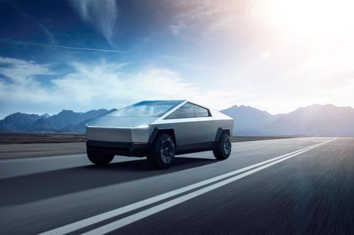 Tesla har lansert en elektrisk pickup kalt Cybertruck. (Alle foto: Tesla)