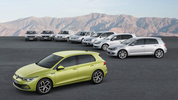 Volkswagen skulle erstatte Bobla, og dette er resultatet. Åtte generasjoner Golf. (Alle foto: VW)