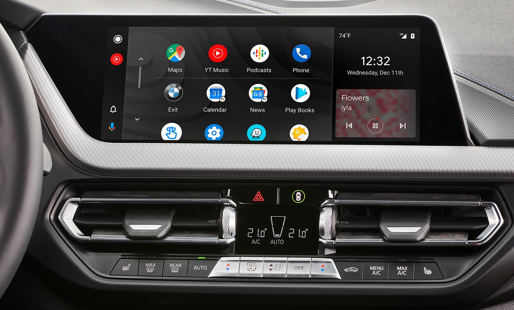 Endelig åpner også BMW opp for at Android-mobilene kan koble seg til bilens infotainment-system. (Begge foto: BMW)