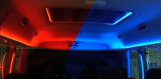 Rødt og blått forbinder vi med varmt og kaldt, og det hjelper faktisk på rekkevidden. Iallfall ifølge Ford. (Alle foto: Ford)