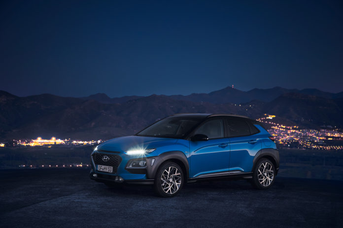 Nå kommer Hyundai Kona også som en hybrid. (Alle foto: Hyundai)
