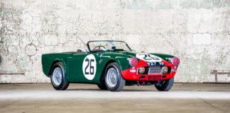 Det finnes bare biler som heter Triumph TRS, og en av disse er nå til salgs. (Begge foto: Pendine)