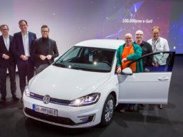 Snart er det slutt for Volkswagen e-Golf, men den rakk å runde en viktig milepæl. (Foto: VW)